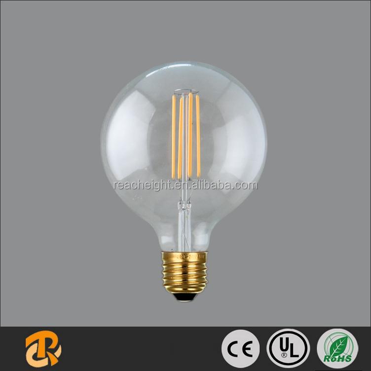 2016 Newest Design Led Long Filament Bulb G125