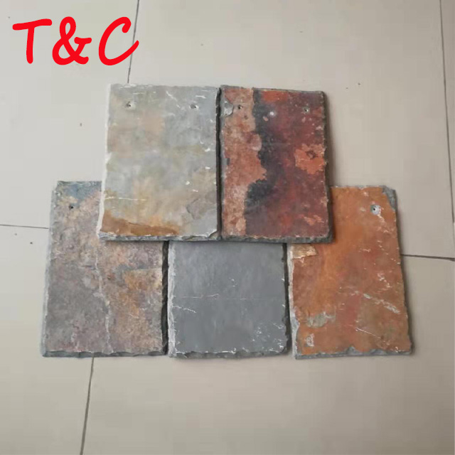 quarry owned hebei hot sale cheap rusty slate roof tiles