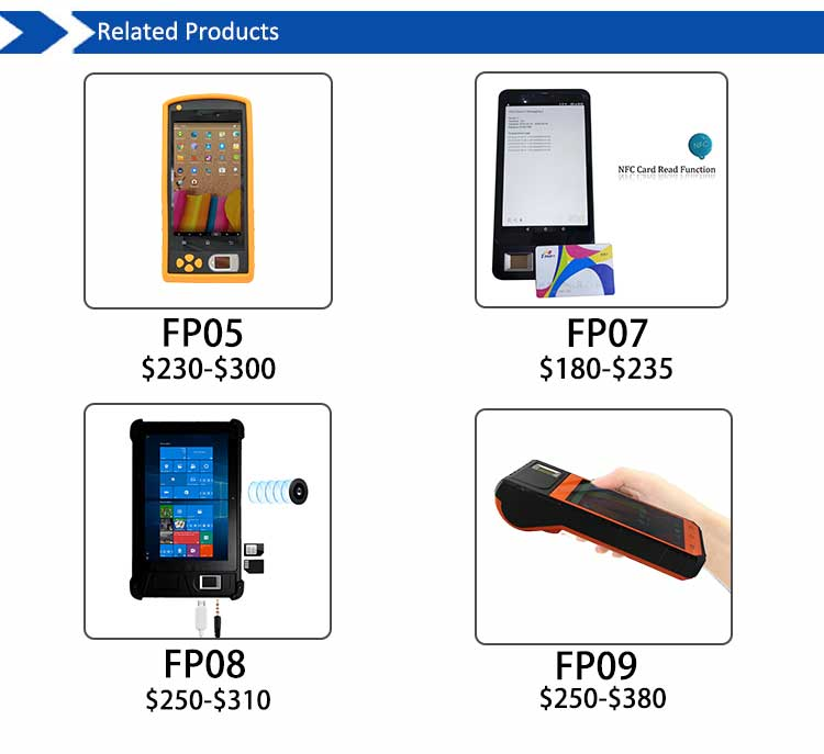 HF7000 Hot Selling Waterproof Portable Fingerprint Scanner For Linux Windows Android IOS
