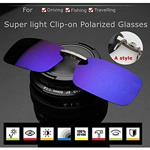 9f5a22a16e4 Get Quotations · (Random Color) Polarized Clip On Sunglasses Sun Glasses  Driving Night Vision Lens For Plastic