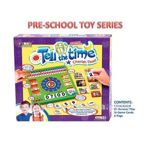 school fun tell the time puzzle game educational toys QS100905127