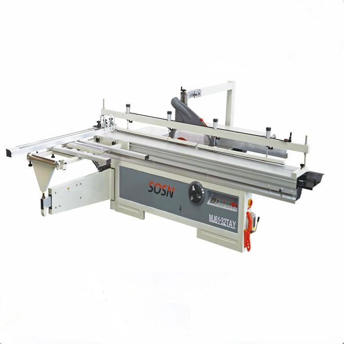 precision panel saw 3200*400mm width sliding table new structure with scoring saw for woodwork