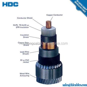 33kv Cable Xlpe Insulation Single Core 500m2 Copper Or