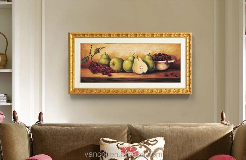 Antiguo Enmarcado Abstracto Lienzo Acrílico Pintura Frutas Pintura ...