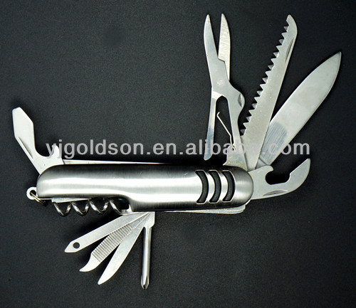portable folding 420 steel multifunction knife with 9 accessories
