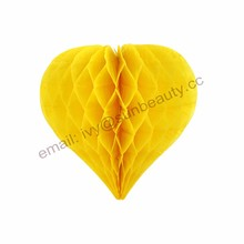 Best sell Rainbow Colourful Heart Hanging Tissue Paper Honeycomb Home Decoration Wedding Party Accessory Supplies