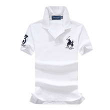 1e6585dc Summer On sale 95% Pique cotton Big horse Short-sleeved polo shirts 3  embroidery logo Ribbed collar slits sides classic fit