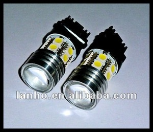 3157 3156 7w CREE Q5 +12 5050 SMD White LED CAR BACKUP LIGHTS w PROJECTOR LENS