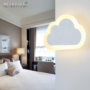 MEEROSEE New Design Mini Indoor Cloud Shape Acrylic LED Wall Light for Kids room MD85651