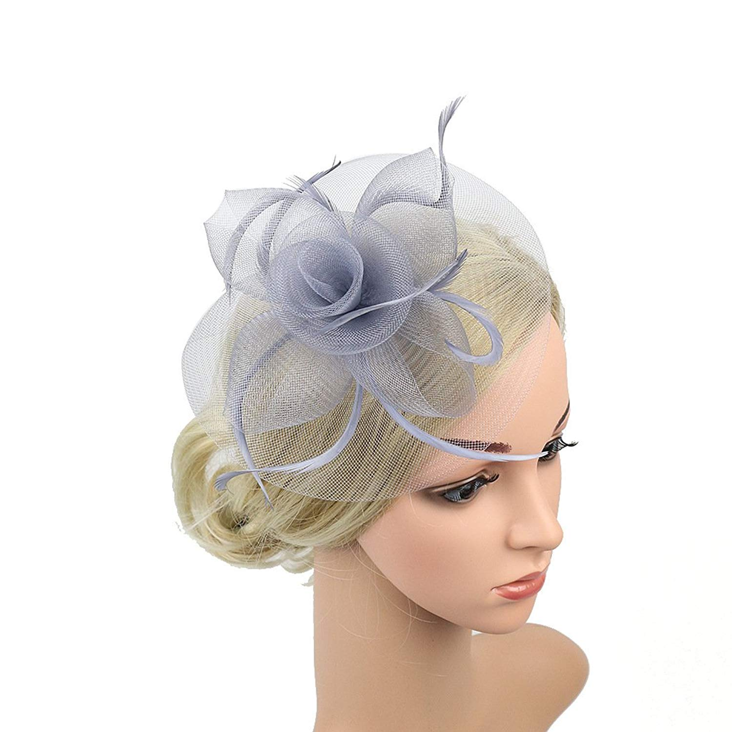 29ed955f Get Quotations · Sunzeus Flowers Bridal Hats Wedding Accessories Feathers  Women's Hats Fascinators