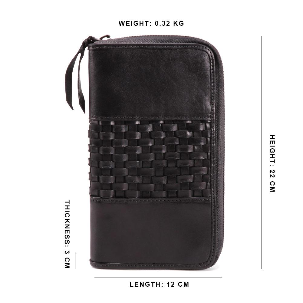 Custom luxe retro grote capaciteit heren plantaardig gelooid leer evening clutch purse voor holding telefoon creditcard cash