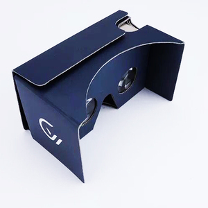 2018 Cheap Custom Logo 34mm 37mm diameter Lens 3D VR Headset Google Cardboard V2 Glasses