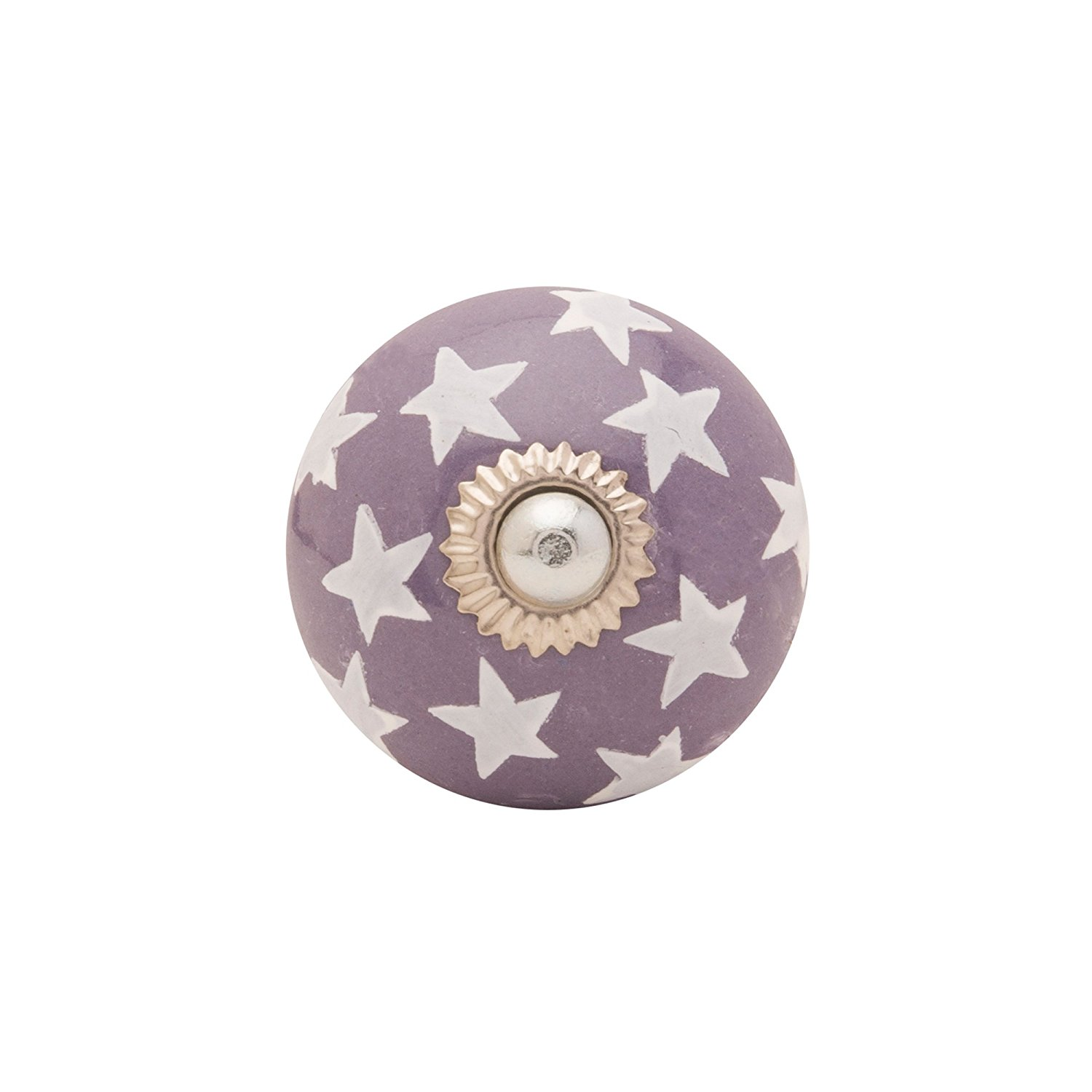 Get Quotations · KNOBS CARTu0027s Purple Casual Abstract Designed Ceramic Door  Knob (4x2.25x2.25)