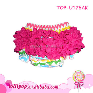 Hot selling spring persnickety hot pink rainbow cotton girls panties bloomer jinhua garment outsourcing panties