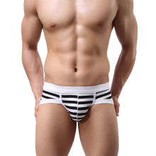 Brand new 2015 Men's Sexy Stripe Cotton Underwear shorts men boxers underpants Soft