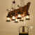 Banquet hall lighting black pendant light lava lamps Wooden handcraft restaurant chandelier pendant lights