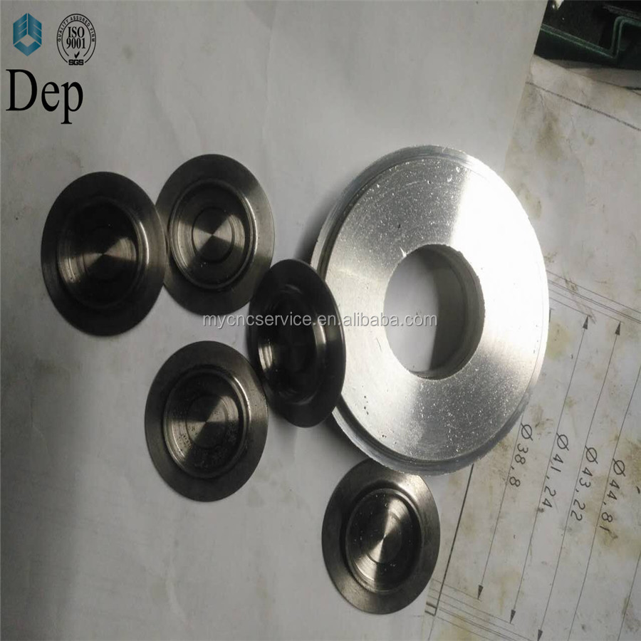 Dep China supply cheap OEM custom stainless steel 316 cnc machining parts coated red