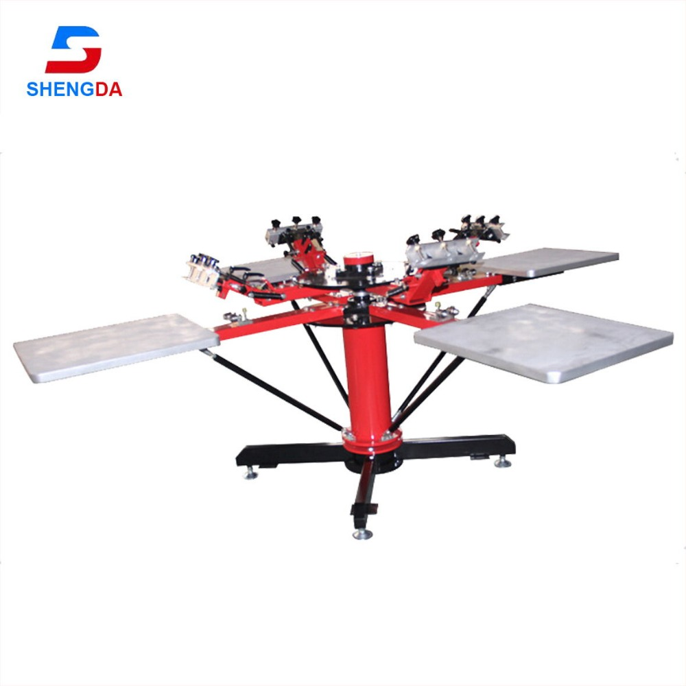 direct factory 4color 4station silk screen printing machine for t-shirt printing