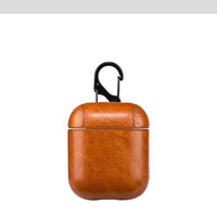 Airpod leather case, new style high quality PU leather charging case for Airpod