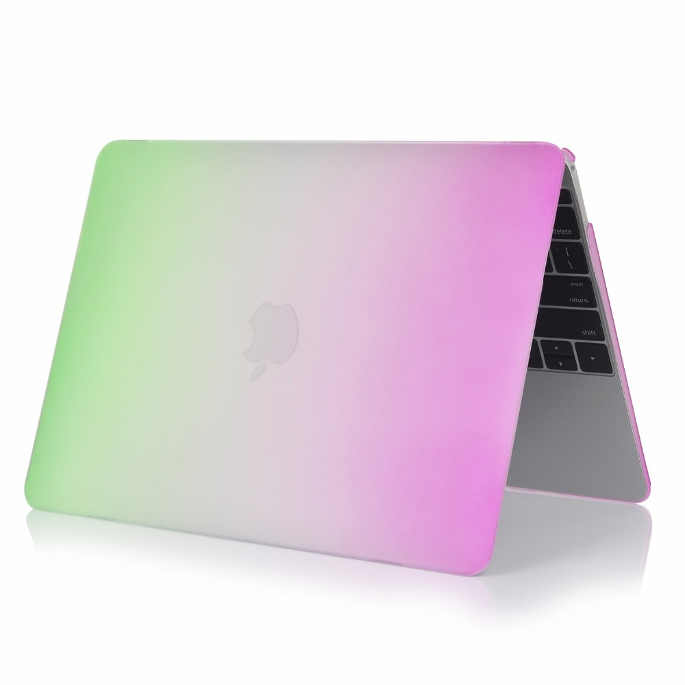 wholesales hot sell rainbow pattern case for macbook air 13 cover hard case cover