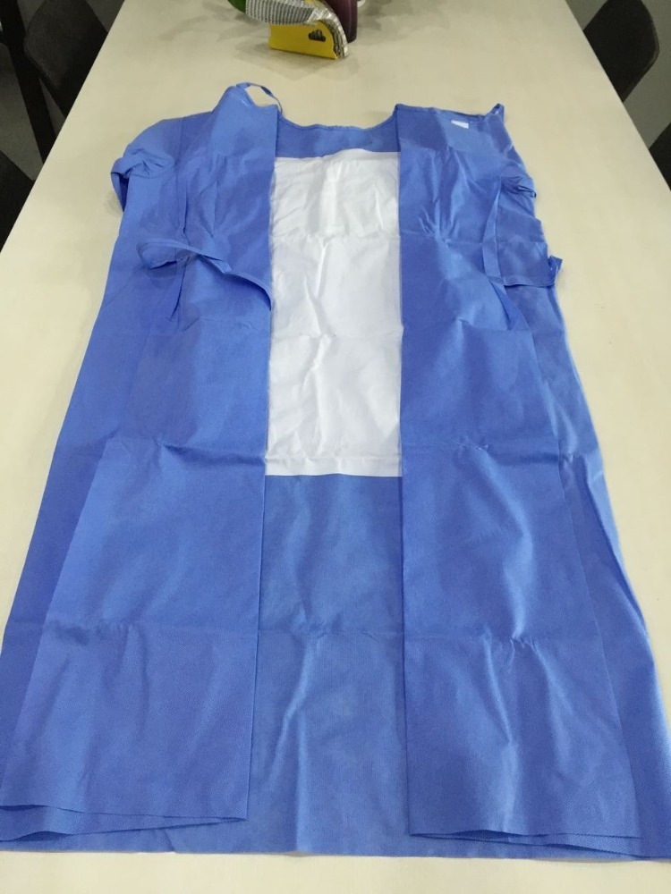 Disposable economic reinforced surgical gowns with four ties sterile hot sale