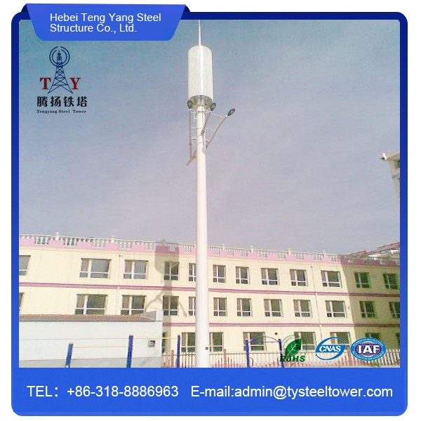 galvanized lighting pole steel telecommunication monopole light tower