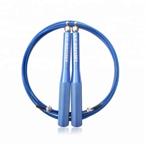 Wholesale High Speed Aluminum metal Bearing Handle Jump Rope For Crossfit Gym Workout