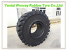 black solid rubber tire 23.5-25 with super hard base resisting tread