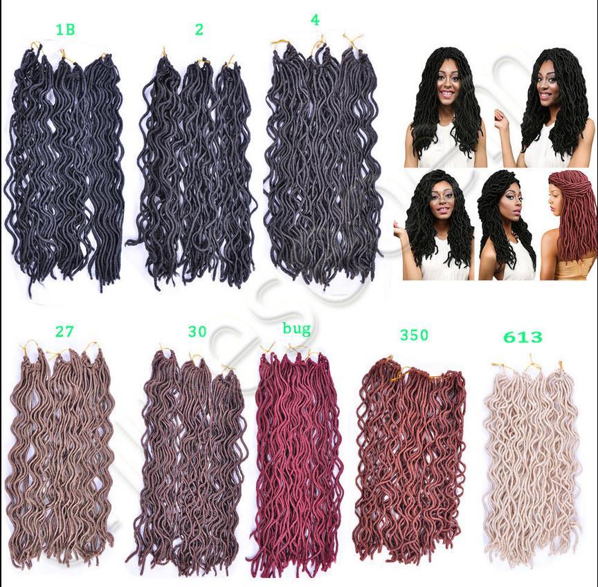 18 Wavy Faux Locs Crochet Hair Havana Mambo Faux Locs 24roots Wavy