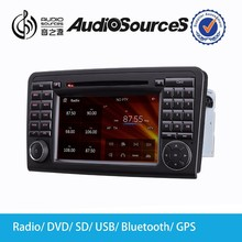 Wince 6.0 System 7 Inch 2 Din Car Audio System for Benz ML W164 Car DVD Player AS-8858