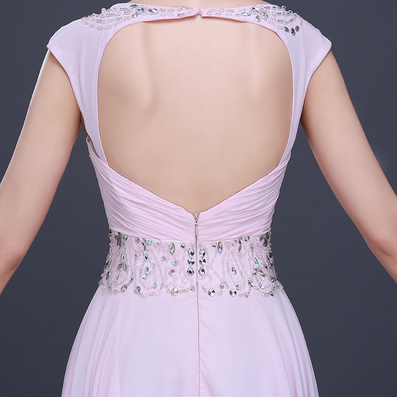 Ebay caliente gasa Rosa largo vestidos de baile 2016 princesa ...