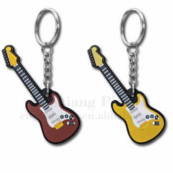 Soft pvc rubber silicone key chain guitar keychain custom keychains no  minimum 834f35d90e38