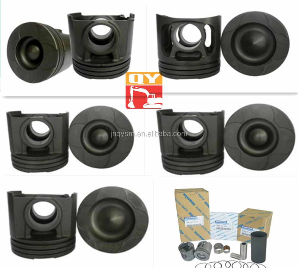 SA6D140-1U/G/W/Z/A used D135A-2 GS360 GD825 D155 WF600 WA500-1engine piston 6211-31-2130 6211-31-2111,piston ring
