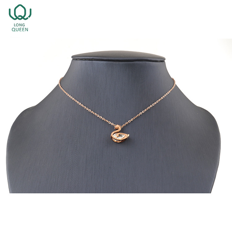 2018 fashion swan shape jewelry necklace women