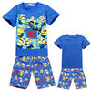 Summer Outfits Cartoon minions Clothing Set Children t shirts + Shorts Sport Suit Boys Girl Kids Clothes Sets YS-159