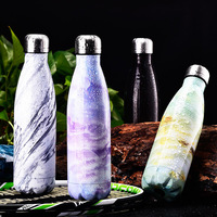 Coke Bottle Marble Plating Sports Pot Stainless Steel Coke Cup Vacuum Stainless Steel Custom Thermos Cup Sport Bottle