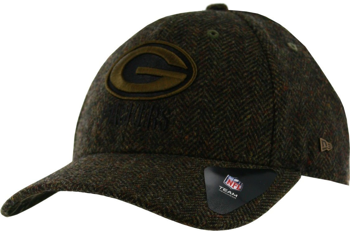 NFL Green Bay Packers Tweed Camo 9FORTY Wool Premium Adjustable Hat, New Era
