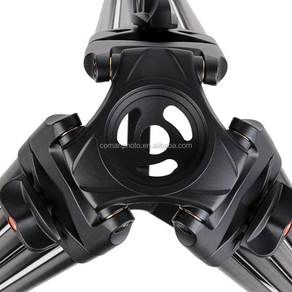 Aluminium Professional  Coman tripod video  With Fluid Ball head DX16L go pro for Nikon camera