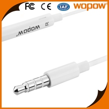 Wopow top quality stereo 3.55mm wired headset mobile phone handsfree in ear Earphone for iphone