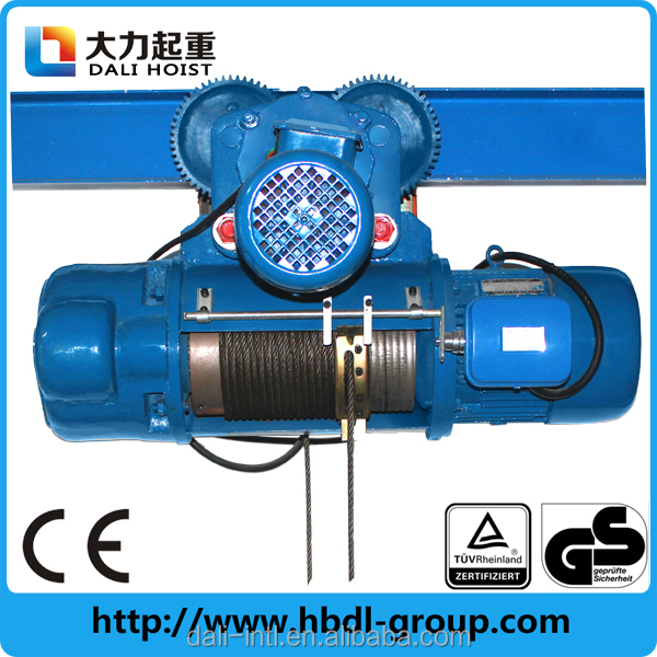 Small Motor Electric Cable Wire Rope Pulley Hoist - Buy Pulley Hoist ...