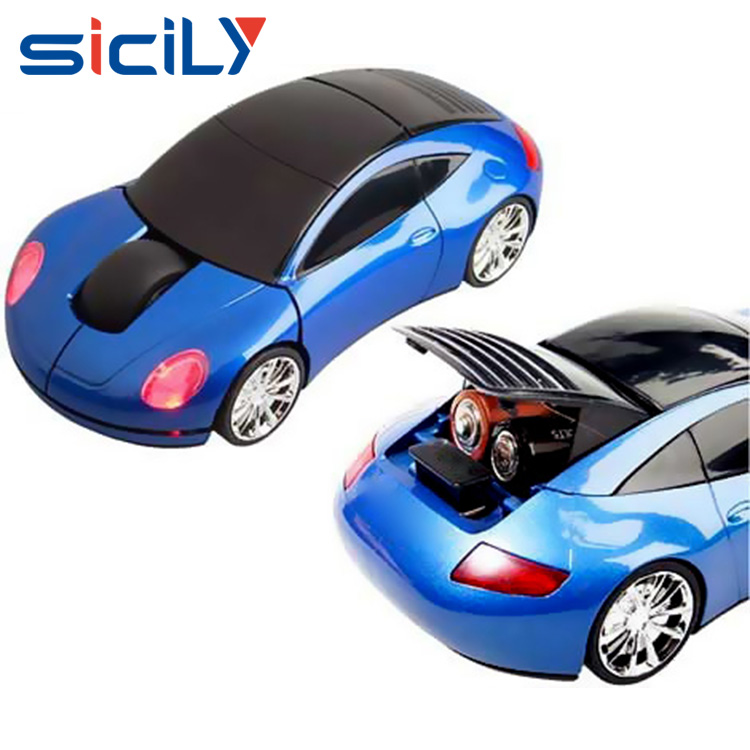 Race Car Style Cute 2.4G Mini Car Wireless Mouse with led light