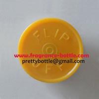 serum bottle vial cap, 10ml vial cap flip off type 20mm JAFFA ORANGE