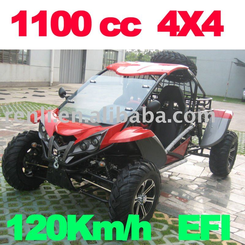 1100cc 4 x 4 tout terrain poussette quad karting atv. Black Bedroom Furniture Sets. Home Design Ideas