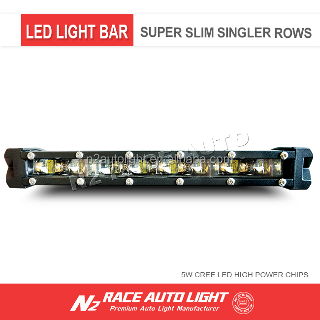 8 inch 30W super slim led bar light , small CREES led light bar for car and motorcycle headlamp
