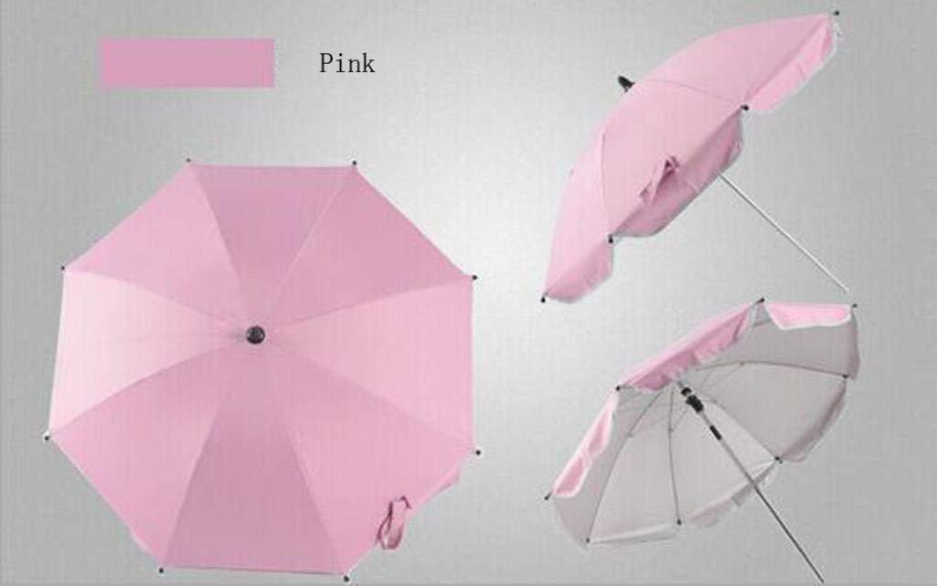 Botrong_Baby Umbrella, Stroller Cover Parasol For Sun Rain Protection UV Rays Outdoor Umbrella (Pink)