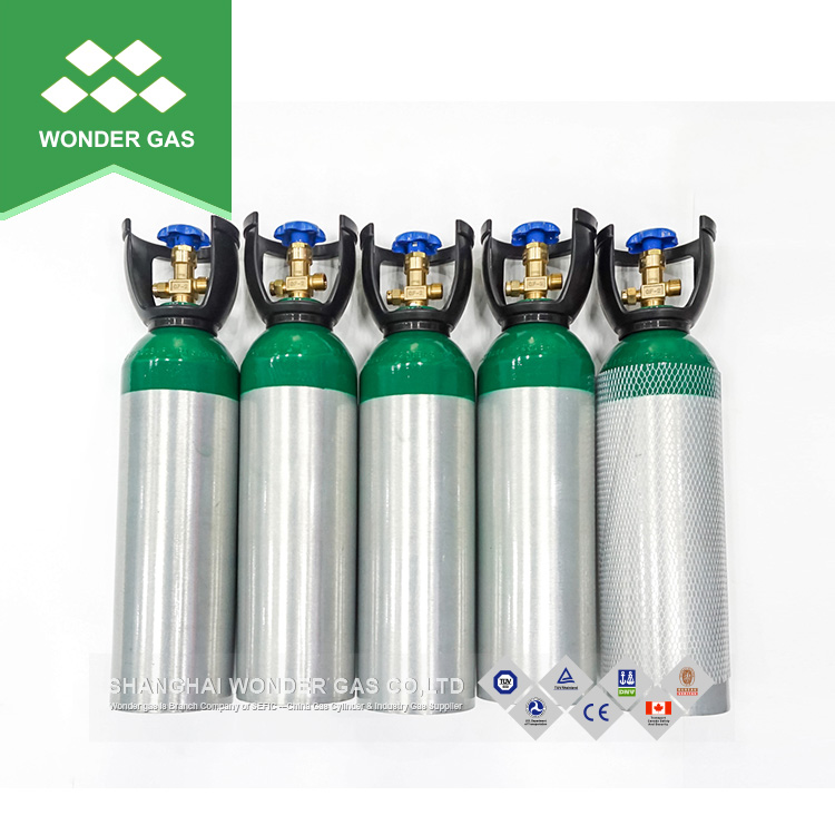 Beer co2 aluminum cylinder