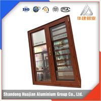 3D wooden color thermal break sliding window and door aluminium profile
