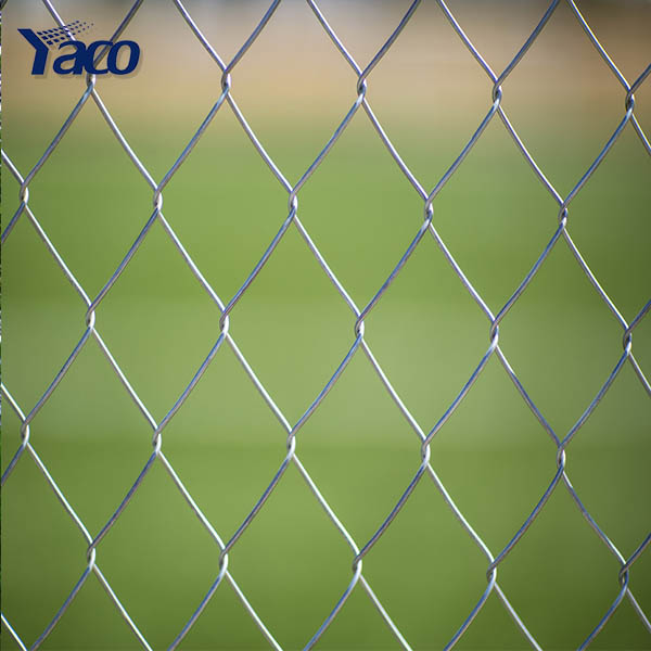 2017 Hengshui 4mm 50mm*50mm diamond construction iron fence philippines galvanized ZOO chain link fence