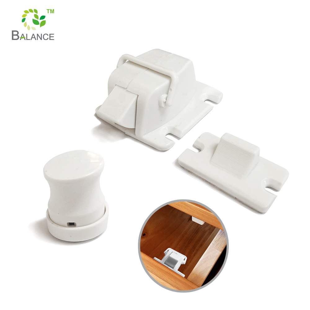 Child Proofing Magnetic Safety Locks Set For Cabinets