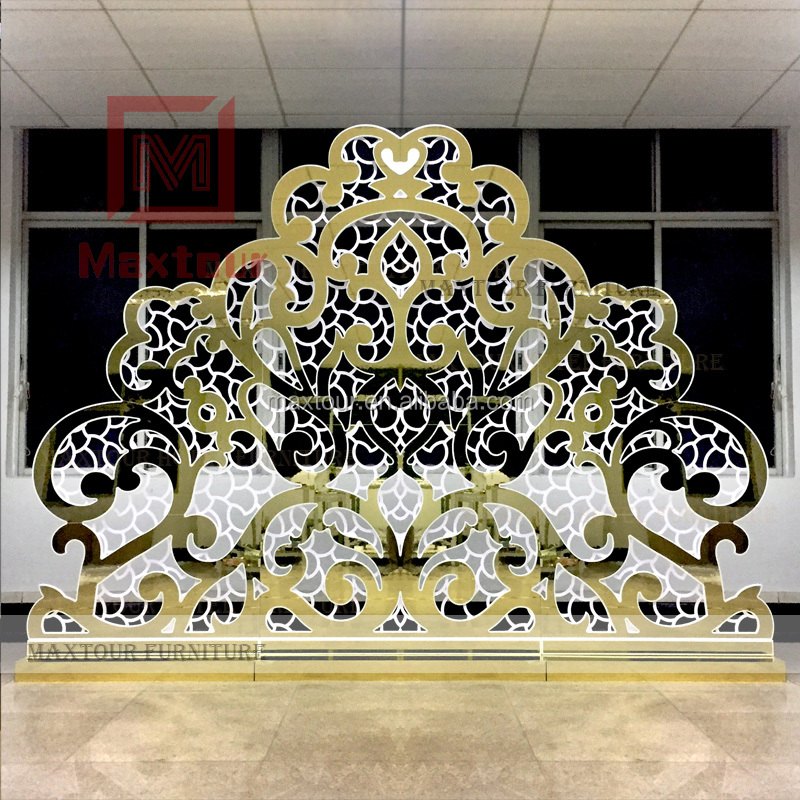 Golden Wedding Backdrop for Wedding Decoration Party Banquet Flower Backdrop Events